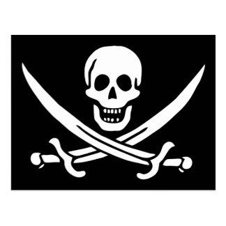 Jolly Roger Pirate Flag Postcard