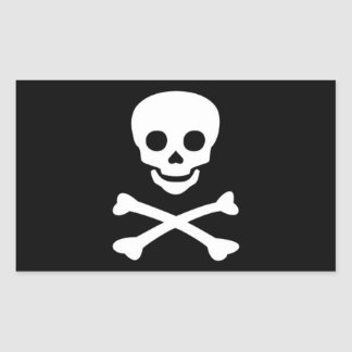 Jolly Roger Pirate Flag Rectangular Sticker