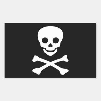Jolly Roger Pirate Flag Rectangular Sticker