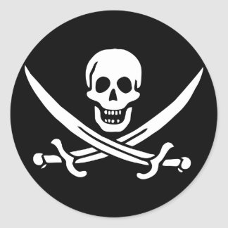 Jolly Roger Pirate Flag Sticker