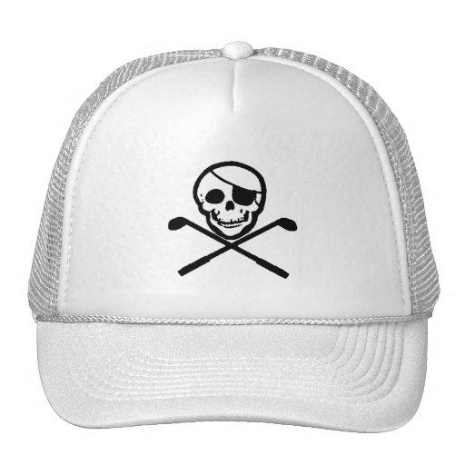Jolly Roger Pirate Golfer Cap Mesh Hats