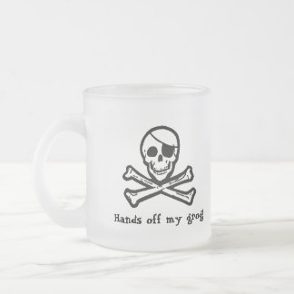 Jolly Roger Pirate Grog Frosted Mug