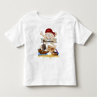 Jolly Roger, Pirate Ship & Pirate's Chest Toddler T-Shirt