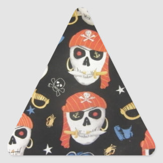 Jolly Roger Pirate Skulls Triangle Stickers