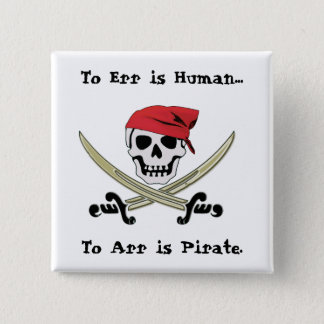 Jolly Roger Pirate Talk Pin Button