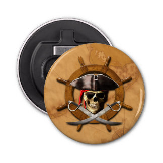 Jolly Roger Pirate Wheel Bottle Opener