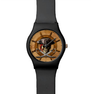 Jolly Roger Pirate Wheel Watch