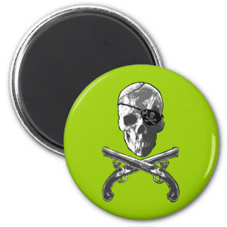 Jolly Roger Pistols 6 Cm Round Magnet