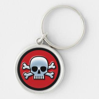 'Jolly Roger' Red Key Ring