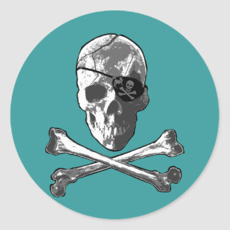 Jolly Roger Round Stickers
