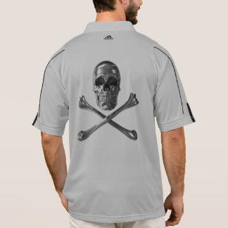 Jolly Roger Skull Adidas Polo Shirt