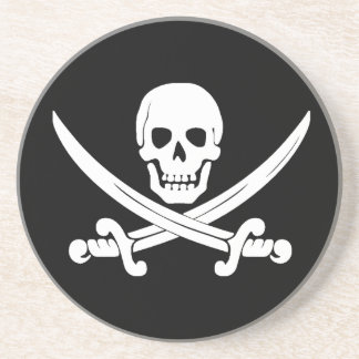 Jolly Roger Skull And Crossbones Pirate Gifts Beverage Coasters