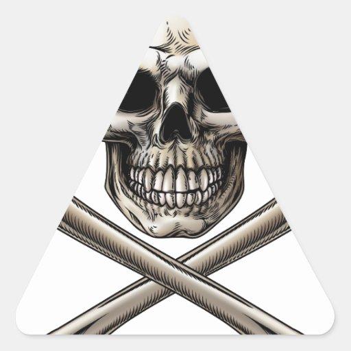Jolly Roger Skull and Crossbones Sign Stickers