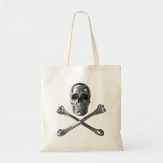 Jolly Roger Skull Budget Tote Canvas Bags