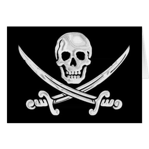 Jolly Roger Skull Card