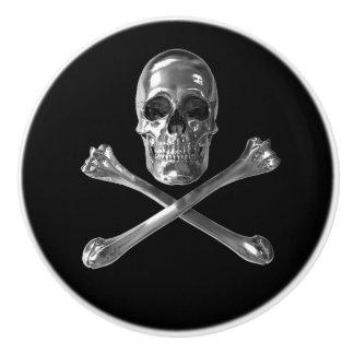 Jolly Roger Skull Ceramic Knob