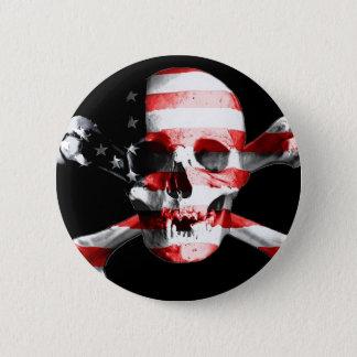 Jolly Roger Skull Crossbones Skull And Crossbones 6 Cm Round Badge