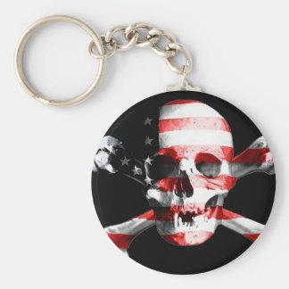 Jolly Roger Skull Crossbones Skull And Crossbones Key Ring