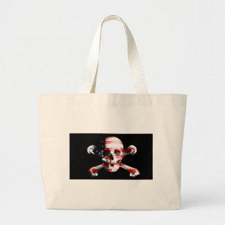 Jolly Roger Skull Crossbones Skull And Crossbones Large Tote Bag