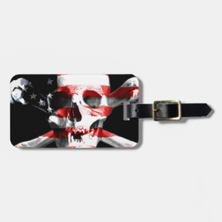 Jolly Roger Skull Crossbones Skull And Crossbones Luggage Tag
