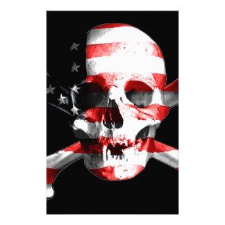 Jolly Roger Skull Crossbones Skull And Crossbones Stationery