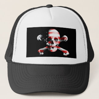Jolly Roger Skull Crossbones Skull And Crossbones Trucker Hat