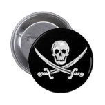 Jolly Roger Skull Pinback Button