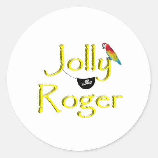 Jolly Roger Round Sticker