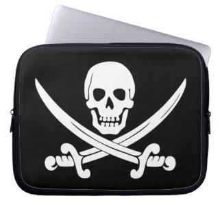 Jolly Roger Sword Pirate Laptop Travel Sleeve Laptop Computer Sleeve