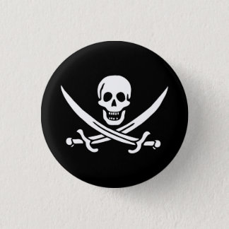 Jolly Roger Swords 3 Cm Round Badge