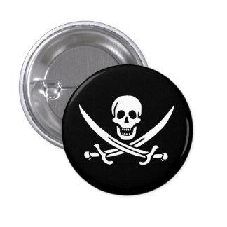 Jolly Roger Swords 3 Cm Round Badge