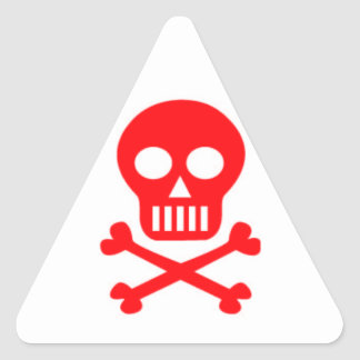 Jolly Roger Triangle Sticker
