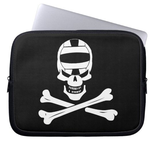 Jolly Roger Water Polo Pirate Flag Laptop Case
