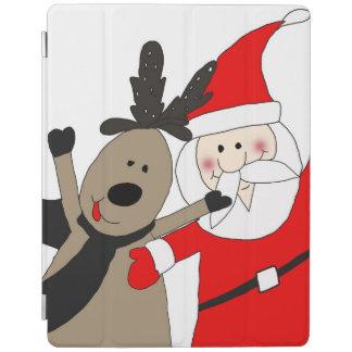 Jolly Santa and Reindeer #1 iPad Cover
