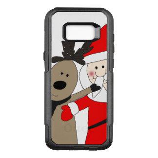 Jolly Santa and Reindeer #1 OtterBox Commuter Samsung Galaxy S8+ Case