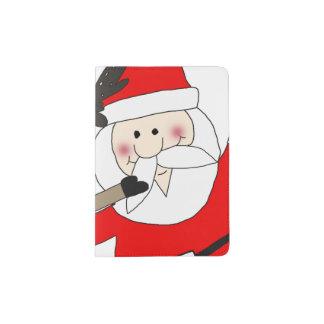 Jolly Santa and Reindeer #1 Passport Holder