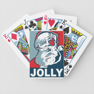 Jolly Santa Bicycle Playing Cards