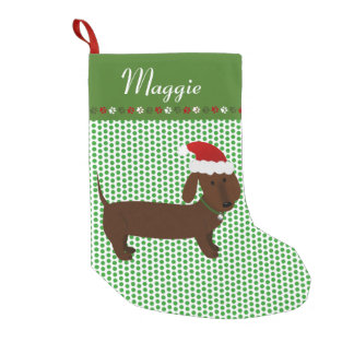 Jolly Santa Brown Dachshund Personalized