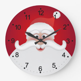 Jolly Santa Christmas Round (Large) Wall Clock