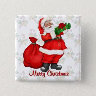Jolly Santa Claus 15 Cm Square Badge
