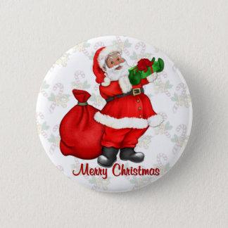 Jolly Santa Claus 6 Cm Round Badge