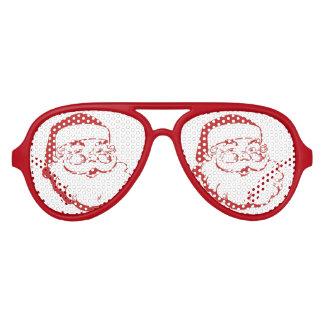 jolly Santa Claus Aviator Sunglasses