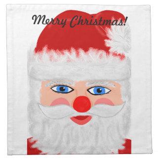 Jolly Santa Claus Cloth Napkins