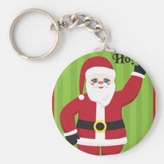 Jolly Santa Claus Key Ring