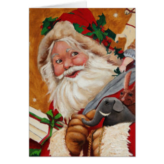 Jolly Santa Notecard