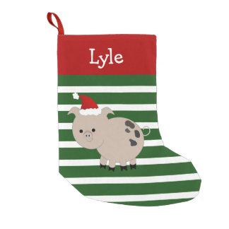 Jolly Santa Pet Pig Stocking