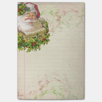 Jolly Santa Post-It Note Sticky Note Paper Pad