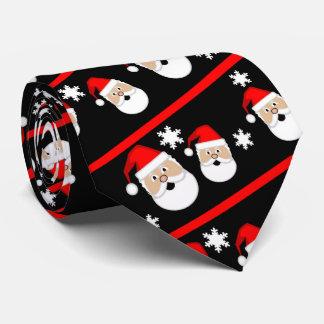 Jolly Santa Stripe Necktie