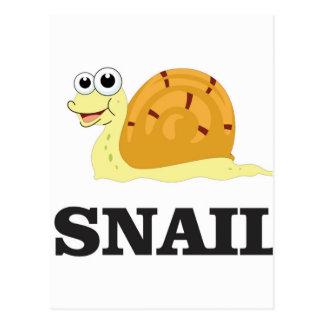jolly snail postcard