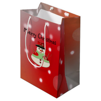 Jolly Snowman Snowy Dreams Medium Gift Bag